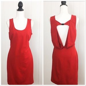 Cluny Red Sleeveless Cocktail Holiday Dress
